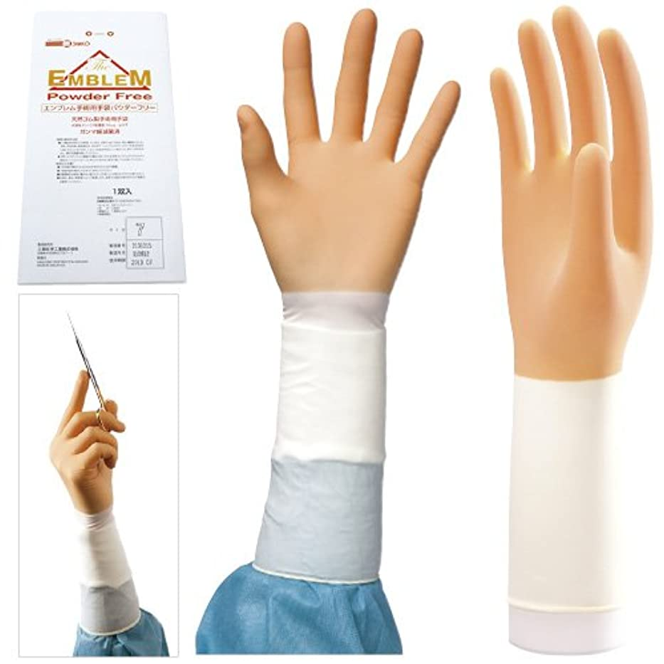 高める移住する許されるエンブレム手術用手袋 パウダーフリー NEW(20双入) 8.5