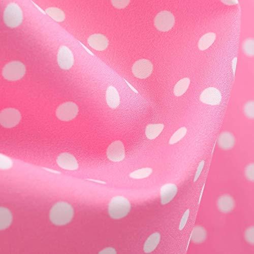 Bradoner Vestido A Media Pierna Sin Mangas De Lunares De La Vendimia De Las Mujeres, 1950 Rockabilly Retro Big Swing Elegante Cóctel Noche Swing Vestido De Fiesta (Color : Pink, Size : XXL)