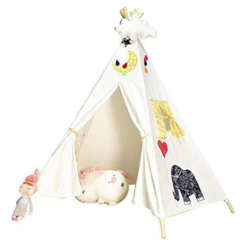 Tienda de decoración de muebles Tienda de Navidad / Decoración de habitación Lona de algodón plegable Tipi de lona Tipi para niños Casa de juegos para niños Tienda de juegos para niños Para niñas N