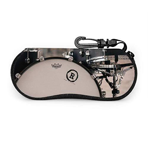 Wthesunshin Schlagzeug Ausrüstung Sonnenbrille Soft Case Reißverschluss Brillenetui Schutzhalter mit Gürtelclip