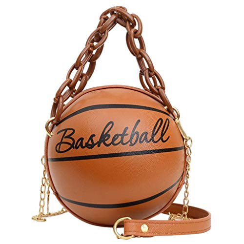 VALICLUD Crossbody Bag Round Basketball Shaped Handbag Novelty Purse Circle...