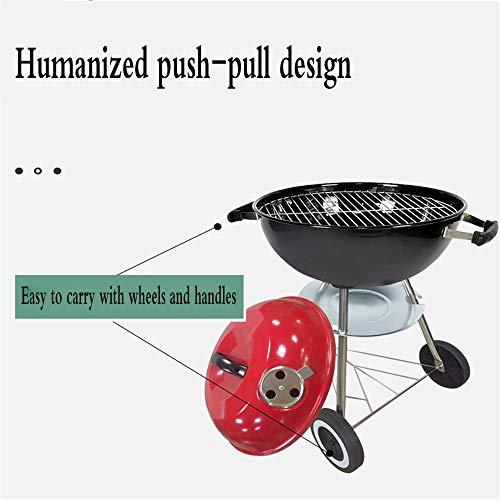 41Bu9Azc0UL - YWZQ Charcoal BBQ Grill Pit, Outdoor-Camping-Kocher Garten Grill Werkzeuge Grillzubehör Kochen Werkzeuge Küchen