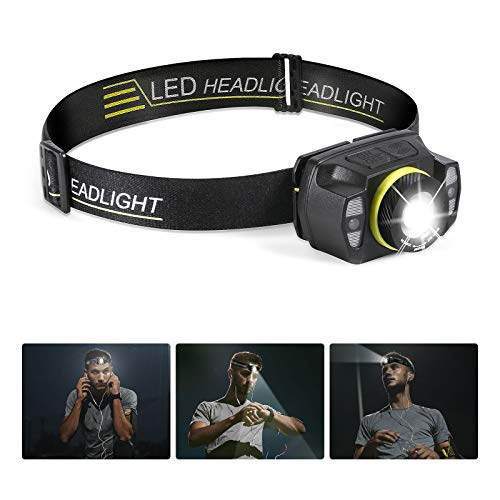 LED Rechargeable Headlamp Flashlight Super Bright Waterproof Headlight 1200mah 400 Lumens Zoomable Head Lamp with 5 lighting modes