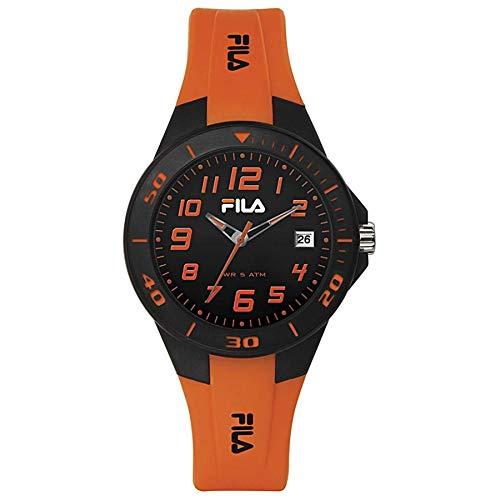 FILA Unisex Erwachsene Analog Quarz Uhr mit Silikon Armband 4.89518E+12