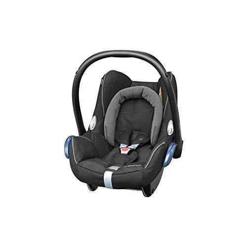 Maxi-Cosi CabrioFix Babyschale, Baby-Autositze Gruppe 0+ (0-13 kg), nutzbar bis ca. 12 Monate, passend für FamilyFix-Isofix Basisstation, Black Diamond (schwarz)
