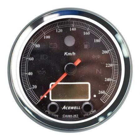 Motorize - ACEWELL Analog Tacho 260 Km/h Digital DZM