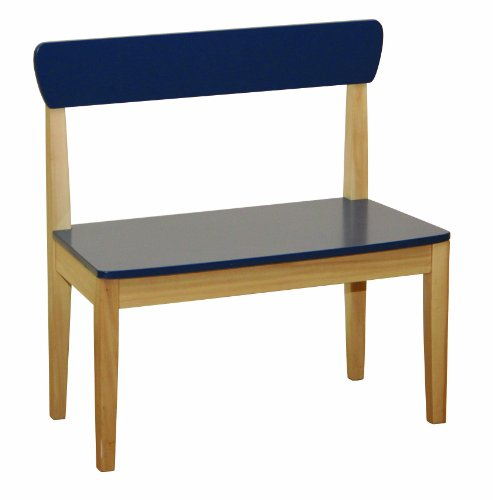 roba 50763 - Sitzbank, Massivholz, Medium Density Fibreboard lackiert, Sitzfläche und Rücken blau lackiert 59 x 56,5 x 29,5 cm, sitzhöhe 31 cm