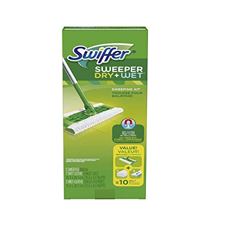 Sweeper Dry and Wet Floor Mopping and Cleaning Starter Kit (Update Version)