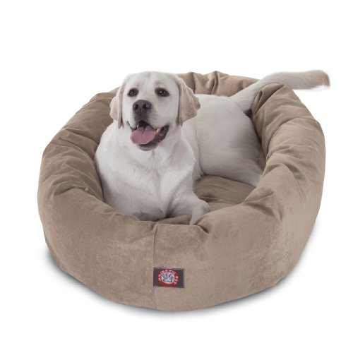 40 inch Pearl Villa Collection Micro Velvet Bagel Dog Bed By Majestic Pet Products