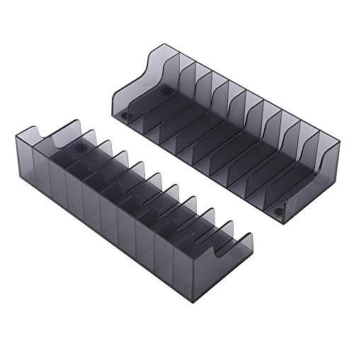 Wendry Scaffale di stoccaggio per CD per 2 PCS, Alta qualità Custodia per Scheda di Gioco di Grande capacità, Resistente alla corrosione Supporto per CD di archiviazione per PS4 / Slim/PRO