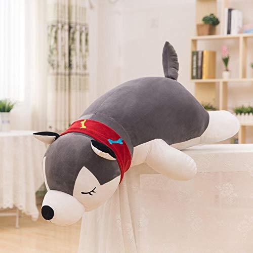 Knuffel pop husky hondenspeelgoed slaapkussen pop cadeau-grijs _90cm