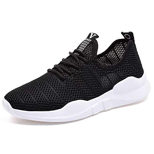 Zapatillas Deportivas de Mujer Correr Gimnasio Casual Zapatos para Caminar Mesh Running Transpirable Ligero Comodos Respirable Sneakers Negro 36-40 riou
