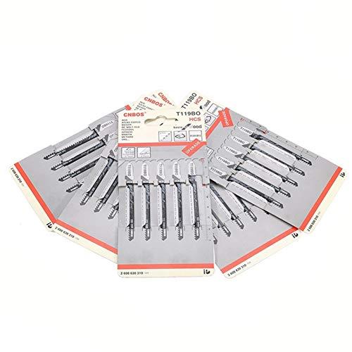 MIJPOJAN 25pcs T119BO Jigsaw Blades Curado Curvado para Bosch Dewalt Hitachi Makita Nuevo Herramientas de Hardware Herramientas eléctricas