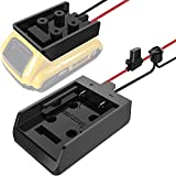 Power Wheel Adapter with Fuse & Switch, Secure Battery Adapter for Dewalt 20V Lithium Battery, with 12 Gauge Wire, Good Power Convertor for DIY Ride On Truck, Robotics, RC Toys and Work Lights