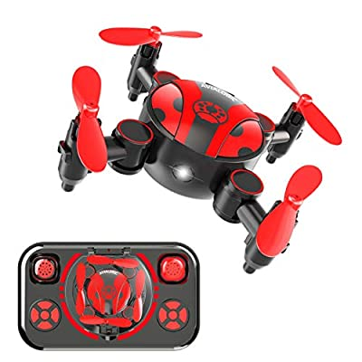 Foldable Mini Drone for Kids and Beginners,Pocket RC Nano Quadcopter with Altitude Hold,Headless Mode,3D Flips and High Speed Spin Function,Fun Gift