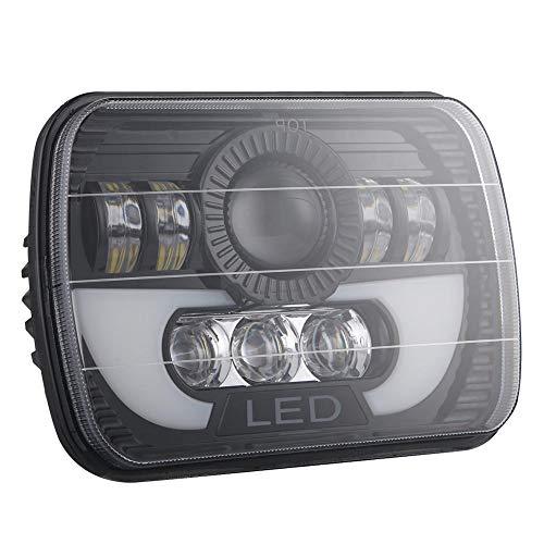 puissant 7 × 6/5 × 7 pouces, 300 W, phares à LED Hi-Lo DRL rectangulaires pour automobiles, SUV…