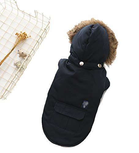 Haustierkleidung, Herbst- und Winter-Haustierbedarf, Hundekleidung, zweibeinige Kleidung mit Kapuze, Daunenjacke, Haustierkleidung, Haustierbedarf
