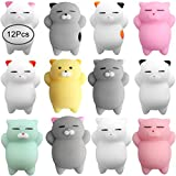 Outee 12 Pcs Mochi Animals Toys Mochi Cat Stress Relief...