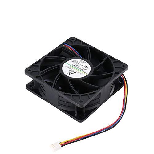 6000 RPM, reemplaza los Conectores de 4 Pines para Antminer Bitmain S7 S9 MongKok Ventilador de refrigeraci/ón