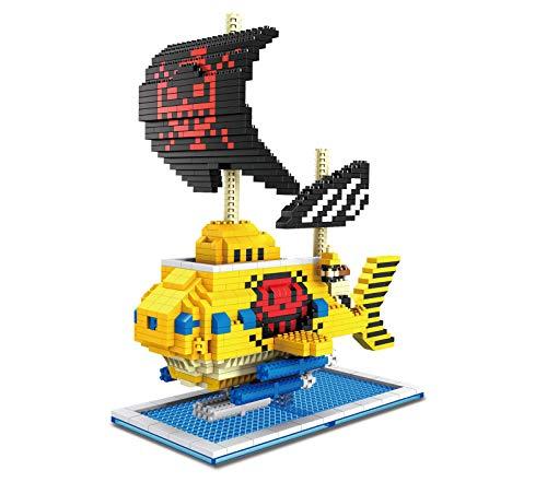 Mini Bloques De Construcción De Dibujos Animados Barco Pirata Barco De Vapor Navegación Juguete Ladrillos Nano Micro Bloques Conjunto Modelo Rompecabezas DIY Juguetes Regalos Niños Adultos,C