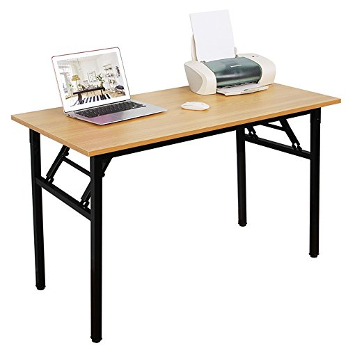 DlandHome 47 inches Folding Table Computer Desk Portable ActivityTable Conference Table Home Office Desk, Fully Assembled Teak DND-ND5-120TB1