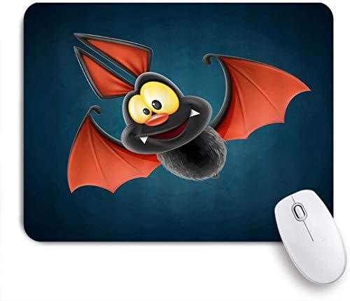 MUYIXUAN Mauspad - Lustiger Fledermaus Halloween reizender Tier-Comic-Cartoon - Gaming und Office rutschfeste Gummibasis Mauspads,240×200×3mm