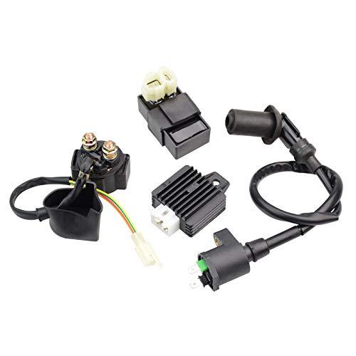 GOOFIT AC 4-Takt 4+2 6Pin Zündspule CDI solenoidrelay Spannungsregler Ersatz für GY6 50-150 50cc 125cc 150cc 139QMA 139QMB ATV Scooter Moped China Roller