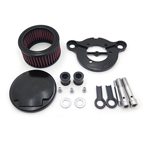 HTT Kit de filtre d'admission pour Harley Sportster XL883 XL1200 1988 1989 1990 1991 1992 1993 1994 1995 1996 1997 1998 1999 2010 2011 2012 2013 2014 2015