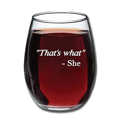 Geboren voor-Anime (15-Ounce - Nooit Fade Graveren Patronen/Letters Rode Wijn Glaswerk Shatter-Dat is wat ze zei - Office Grappig - 15 OZ Grappig Stemless Wijnglas - Gift for Women