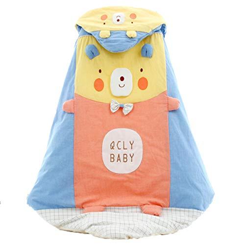 MHMTSY Saco de dormir para bebé Modelos de otoño e invierno Espesamiento de algodón Correas de seguridad suaves y cómodas Adecuado para 0-24 meses Forro para bebé extraíble