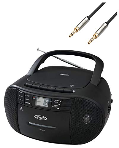 Jensen CD-550 Portable Stereo Compact Disc Cassette Recorder with AM//FM Radio