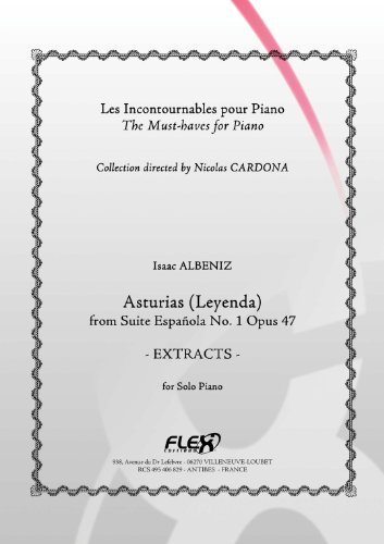 FLEX EDITIONS ALBENIZ I. - ASTURIAS - EXTRACTS - SOLO PIANO Klassische Noten Tasteninstrumente Klavier