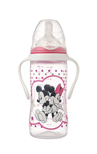 Tigex Minnie - Biberón irrompible 330 ml silicona + 6 meses
