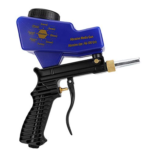 Pneumatische zandstraalmachine Handheld lichtgewicht zandstraalpistool Duurzaam zwaartekrachttype Zandstralen Metaal Kunststof