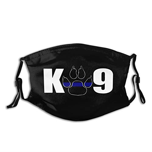 K9 Paw Police Officer Face Mask With Filter Reusable Bandana for Men Women Youth Boys Girls