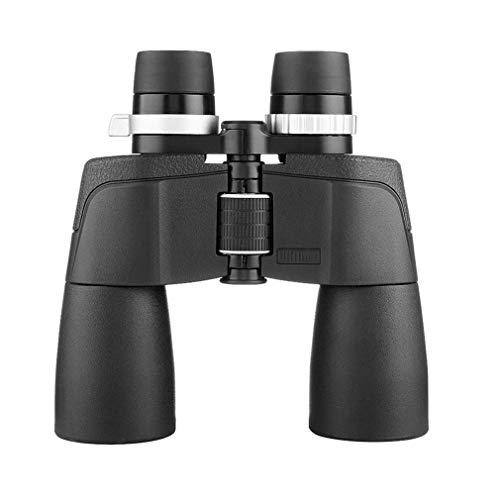 Mini Powerful Binoculars for Adults HD BAK4 Roof Waterproof Binocular with Clear Weak Light Night Vision,for Birds Watching,Travel with Strap Carrying Bag Travel Binoculars (Size : 21x50)