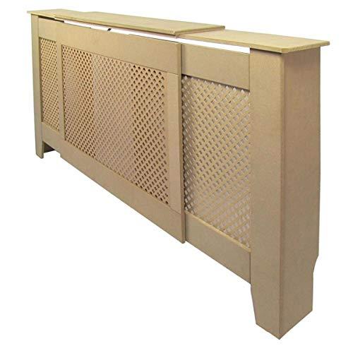 Jack Stonehouse Radiator Cover Traditional Diamond Slat MDF Wood Cabinet, Unfinished Adjustable