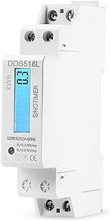 SINOTIMER DDS518L 110V 5(32) A 60Hz Single Phase 18mm LCD Backlit Wattmeter Power Consumption Watt Energy Meter DIN Rail Mount