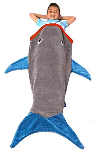 Bada Bing Decke Kuscheldecke Hai Fisch Grau Blau Kinder Motiv Kuschelmonster 41