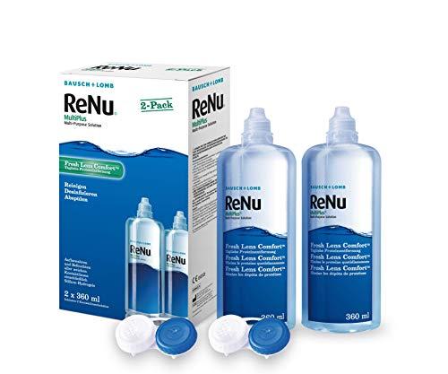 ReNu MultiPlus Pflegemittel für weiche Kontaktlinsen, Twin Box (2 x 360 ml) - 2