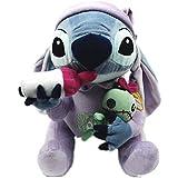 zdffgcgvg Lilo Plush Toy Plush Doll Stitch Holding Scrump Stuffed Animal Plush Toy Gift 30cm