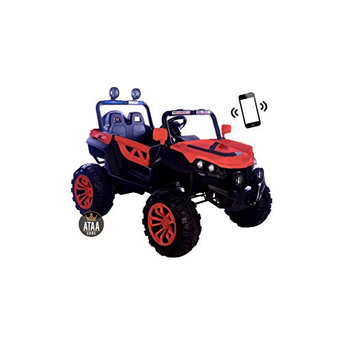 ATAA Buggy Rodeo 4x4 - Rojo - Coche eléctrico para niños con conducción remota Dimensiones 126x86x81cm batería 12v y Dos Asientos