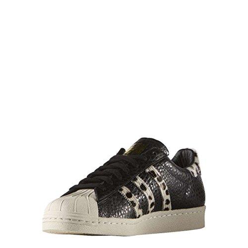 Adidas Superstar 80s Animal, core black/chalk white/gold metallic, 7,5