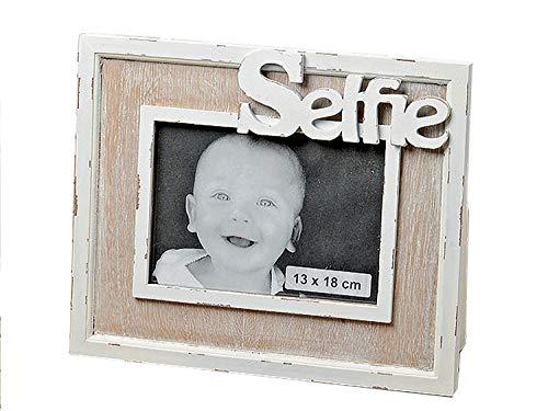 formano Dekorativer Bilderrahmen ~ Selfie - Querformat ~ aus Holz Rahmen Dekoration Holzrahmen 13x18