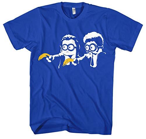 Pulp Fiction Mini Männer und Herren T-Shirt | Lustig Flauschig Kostüm Fun (M, Blau)