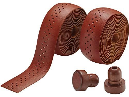 Voxom stuurband Gb5 bruin, leer, incl. houten einddoppen 200x3cm, 718000017 grepen