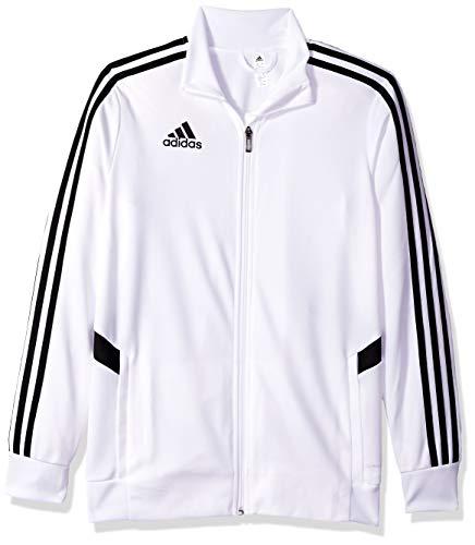 adidas Jungen Tiro Trainingsjacke, Jungen, Jacke, Alphaskin Tiro Youth Training Jacket, weiß / schwarz, Small