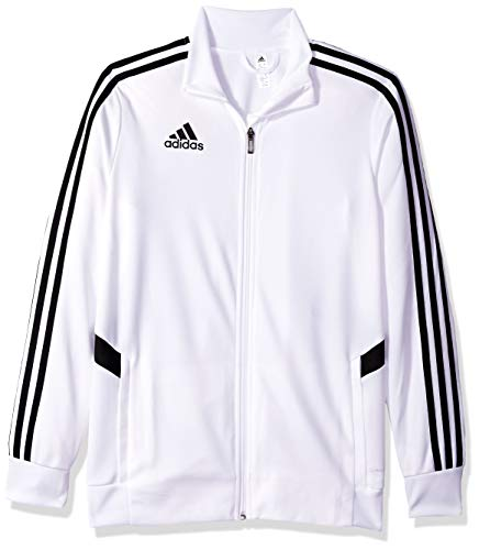 adidas Kids' Tiro Soccer Track Jacket, White/Black, Medium