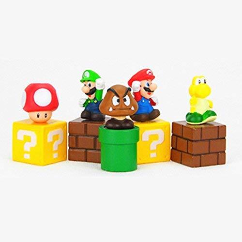 "Super Mario Brothers Super Mary Princess, Turtle, Mushroom, Orangutan , Super Mario Action Figures, 2"" Action Figures Set"