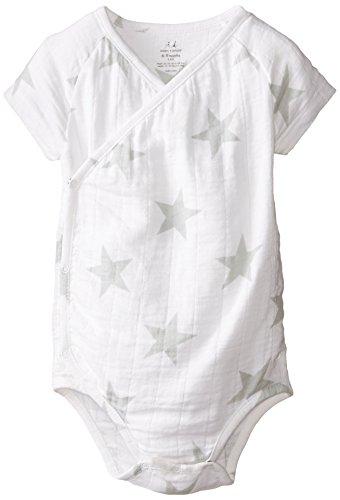 aden + anais Baby Boy or Girl Kimono Bodysuit – Baby Side Snap Onesie –...